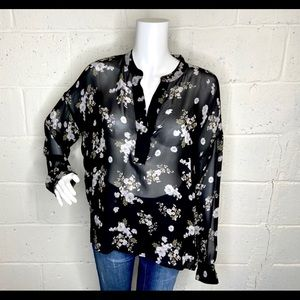 Vince silk blouse size medium